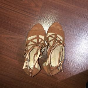 Shoes - Brown Strappy Heels Size 7 1/2